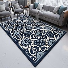 Modern Area Rug Designer Carpet Blue, white, red,