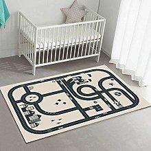 Modern Area Rug Designer Carpet Cartoon car road