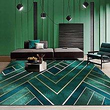 Modern Area Rug Designer Carpet Dark green Nordic