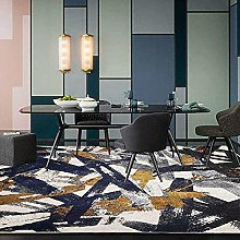 Modern Area Rug Designer Carpet Golden blue gray