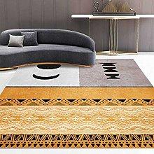 Modern Area Rug Designer Carpet Gray-yellow sun