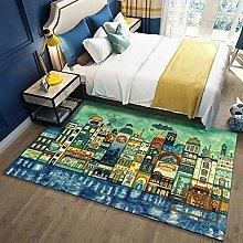Modern Area Rug Designer Carpet Night city street