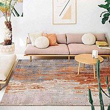 Modern Area Rug Designer Carpet Orange retro