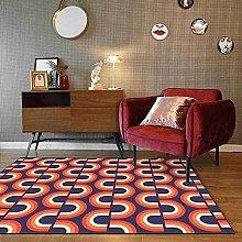 Modern Area Rug Designer Carpet Red, yellow, blue