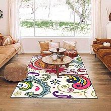 Modern Area Rug Designer Carpet Rose red blue