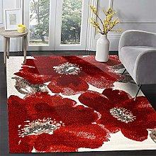 Modern Area Rug Living Room Large Carpet Red ink