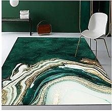Modern Area Rug Nordic Luxury Deep Emerald Green