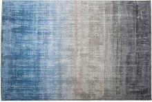 Modern Area Rug Viscose Living Room Grey Tones and