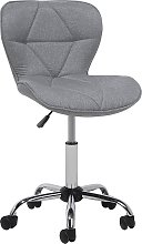 Modern Armless Desk Chair Home Office Grey Faux