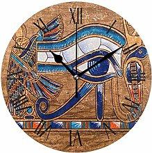 Modern Art Egyptian Wall Clock, Silent Non Ticking