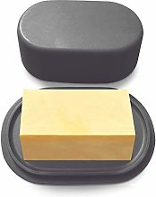 Modern Bamboo Dark Grey Butter Dish with Lid -