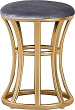 Modern Bar Stool, Round Dressing Stool with Gold