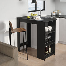 Modern Bar Table Kitchen Dining Table with Shelf