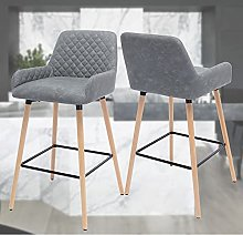 Modern Barstool Bar Stools with Backs Solid Wooden