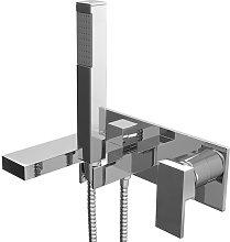 Modern Bathroom Bath Shower Mixer Tap Square Hand