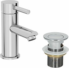 Modern Bathroom Mono Basin Mixer Tap Waste Single