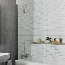 Modern Bathroom Over Bath Shower Screen Square