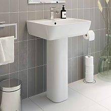 Modern Bathroom Provence Full Pedestal 550mm 1 Tap