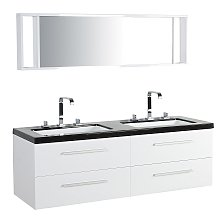 Modern Bathroom Vanity Set White Double Sink