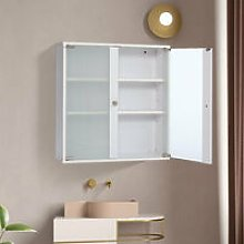 Modern Bathroom Wall Cabinet With Frosted Glass