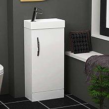 Modern Bathrooms Vanity Unit 400mm 1-Door Floor