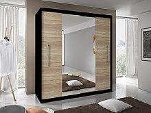 MODERN BEDROOM 2 SLIDING DOORS WARDROBE 6 ft 8
