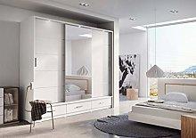 Modern Bedroom Mirror Sliding Door Wardrobe ARTI 1