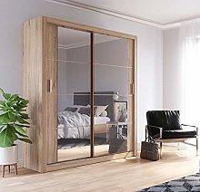 Modern Bedroom Mirror Sliding Door Wardrobe ARTI 3