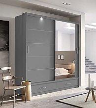 Modern Bedroom Mirror Sliding Door Wardrobe ARTI 5