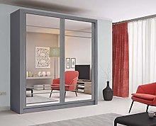 Modern Bedroom Mirror Sliding Door Wardrobe Arti 8