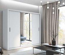 Modern Bedroom Mirror Sliding Door Wardrobe IDEA