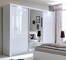 Modern Bedroom Mirror Sliding Door Wardrobe SIENA