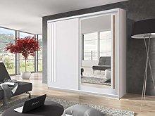 Modern Bedroom Sliding Door Wardrobe EFFECT 200cm