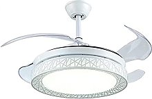 Modern Bird Nest LED Ceiling Fan Light with Remote