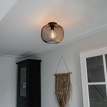 Modern black ceiling lamp - Bliss Mesh