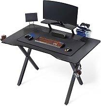 Modern Black Computer Desk Stable Office Desk