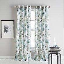 Modern Bloom Grommet Semi-Sheer Curtain DKNY