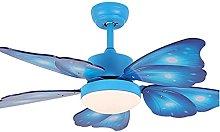 Modern Butterfly Fan Ceiling Light with Remote