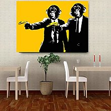 Modern Canvas Painting Banana Monkey Wall Pictures