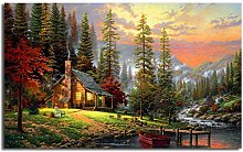 Modern Canvas Painting Bob Ross Paintings