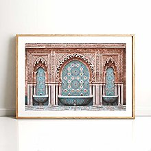Modern Canvas Painting Morocco Arch Poster Print