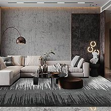 Modern Carpet, Abstract Lines Gradient Gray Rug,