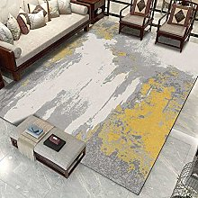 Modern Carpet, Chinese Style Abstract Ink Yellow