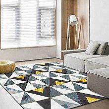 Modern Carpet, Gold And Blue Retro Triangle
