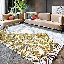 Modern Carpet, Golden Triangle Geometric Marbling