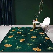 Modern Carpet, Light Luxury Dark Green Ginkgo