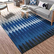 Modern Carpet, Rhombus Gradient Black Gray Blue