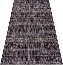Modern carpet SISAL FISY Stripes 20777A brown /