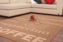 Modern Carpets Coffee Flat Pile Designer Brown