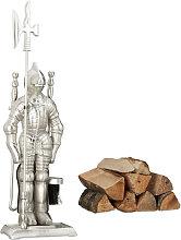 Modern Cast Iron Fire Irons. 4-Piece Fireplace